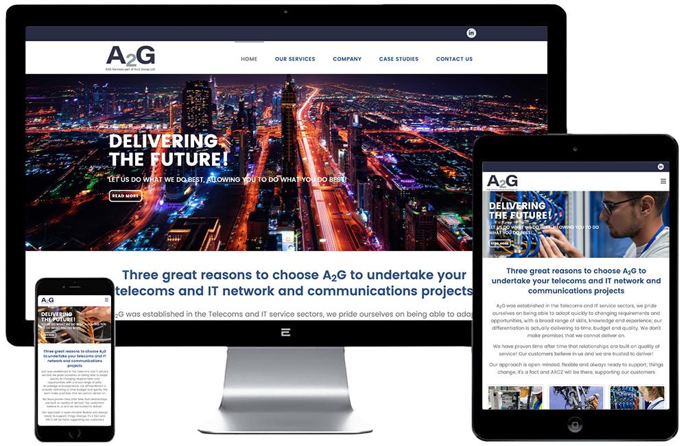A2G Website Mock Up